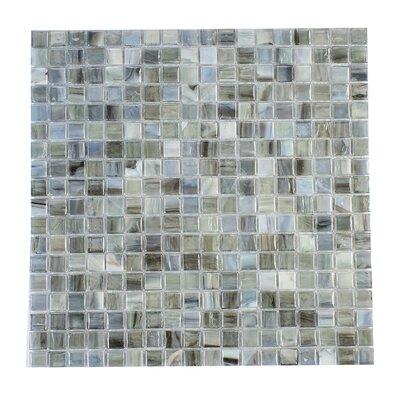 Piazza Azzurro 0.5 x 0.5 Glass Mosaic Tile