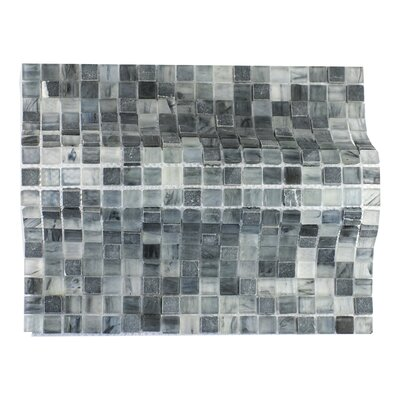 Piazza 0.5 x 0.5 Glass Mosaic Tile in Dark Blue/Gray