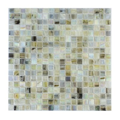 Piazza 0.5 x 0.5 Glass Mosaic Tile in Jasper