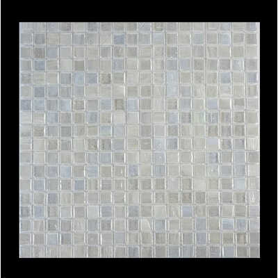 Piazza 0.5 x 0.5 Glass Mosaic Tile in White