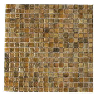 Piazza 0.5 x 0.5 Glass Mosaic Tile in Amber