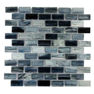 Contemporeano 1 x 1.85 Glass Mosaic Tile in Dark Blue