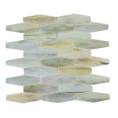 Esagono 1.5 x 4.75 Glass Mosaic Tile in Cream