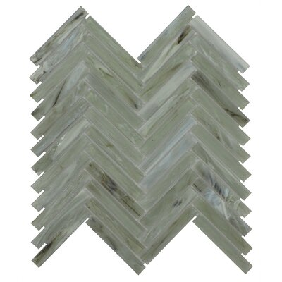 Acuto 11.1 x 11.3 Glass Mosaic Tile in Green/Gray