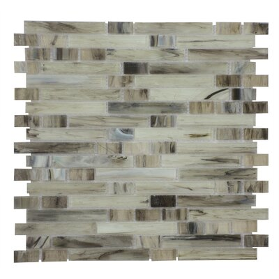 Magro in Mix 11.97 x 11.89 Glass Mosaic Tile in Gray