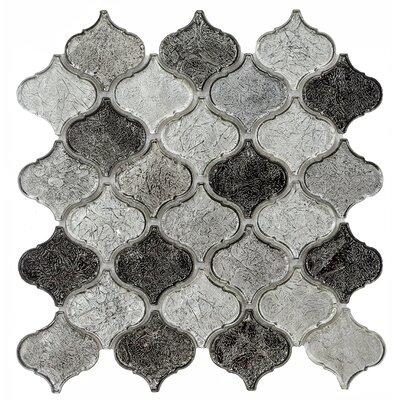 "Mini Eban 11.81"" x 12.2"" Glass Mosaic Tile in Gray LTH738-23"