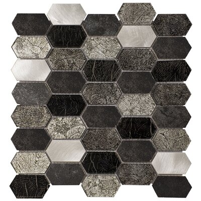 Distinto 11.61 x 12 Mosaic Tile in Gray