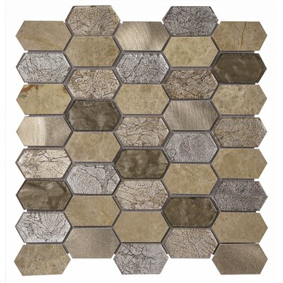 Distinto 11.61 x 12 Mosaic Tile in Beige