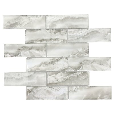 Heavenly 2 x 6 Glass Subway Tile in Silver Gray