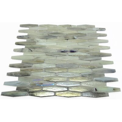 Esogano 11.18 x 12.4 Glass Mosaic Tile in Gray/Beige