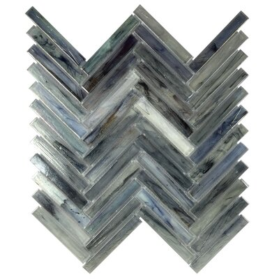 Acuto 11.1 x 11.3 Glass Mosaic Tile in Dark Blue