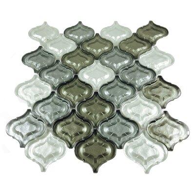 Lantern Glass Mosaic Tile in Silver Gray