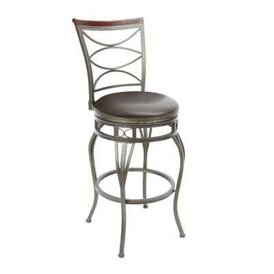 Vernier 29 Swivel Bar Stool Upholstery: Espresso