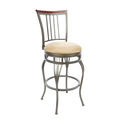 Blairsville 29 Swivel Bar Stool Upholstery: Tan