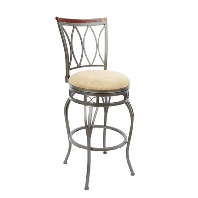 Vienna 29 Swivel Bar Stool Upholstery: Tan