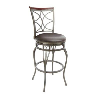 Wakeman 29 Swivel Bar Stool Upholstery: Espresso