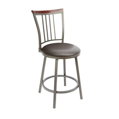 Blueberry Hill 24 Swivel Bar Stool Upholstery: Espresso