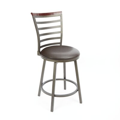 Branchdale 24 Swivel Bar Stool Upholstery: Espresso