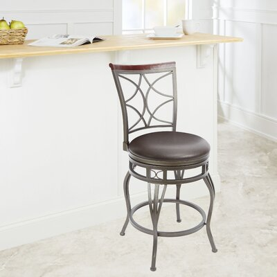 Wakefield 24 Swivel Bar Stool Upholstery: Espresso
