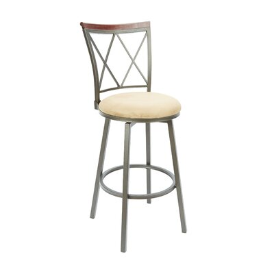 Vandalia 29 Swivel Bar Stool Upholstery: Tan