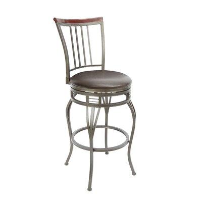 Blairsville 29 Swivel Bar Stool Upholstery: Espresso