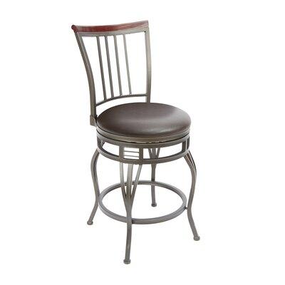 Birmingham 24 Swivel Bar Stool Upholstery: Espresso