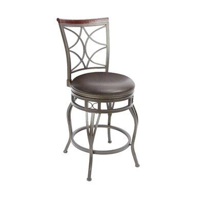 Walbridge 24 Swivel Bar Stool Upholstery: Espresso
