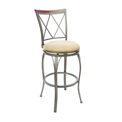 Utica 29 Swivel Bar Stool Upholstery: Tan