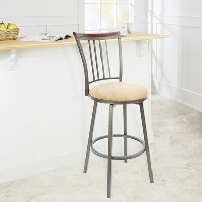 Bolivar 29 Swivel Bar Stool Upholstery: Tan
