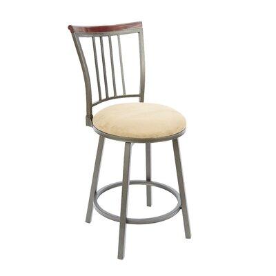 Blueberry Hill 24 Swivel Bar Stool Upholstery: Tan