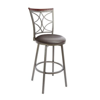 Walton 29 Swivel Bar Stool Upholstery: Espresso