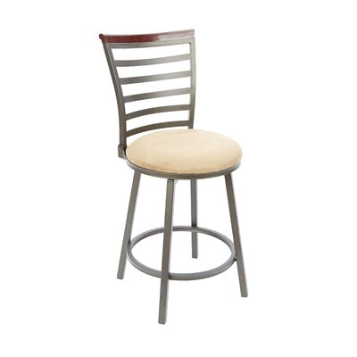 Branchdale 24 Swivel Bar Stool Upholstery: Tan