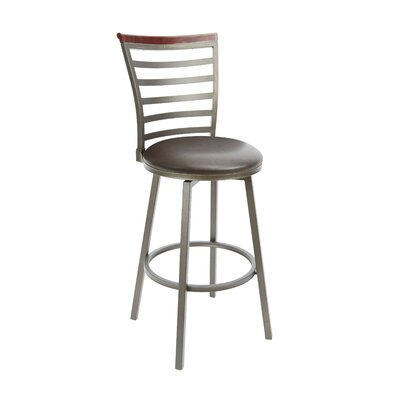 Brandon 29 Swivel Bar Stool Upholstery: Espresso