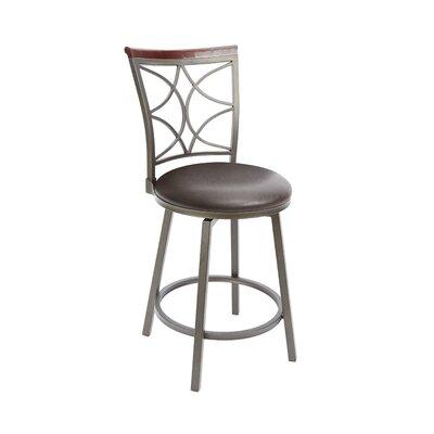 Waltham 24 Swivel Bar Stool Upholstery: Espresso