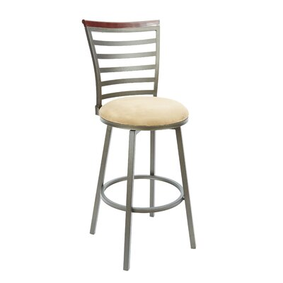 Brandon 29 Swivel Bar Stool Upholstery: Tan