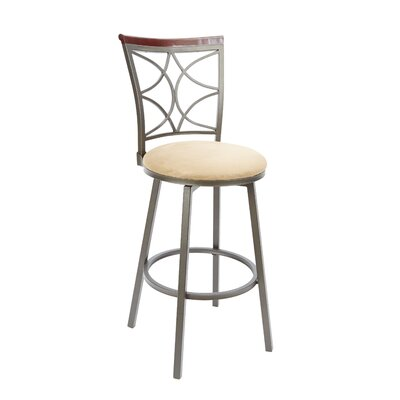 Walton 29 Swivel Bar Stool Upholstery: Tan