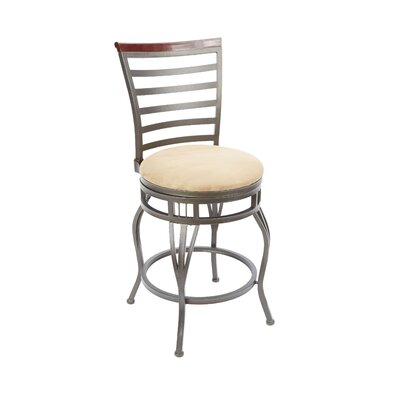 Bonneauville 24 Swivel Bar Stool Upholstery: Tan