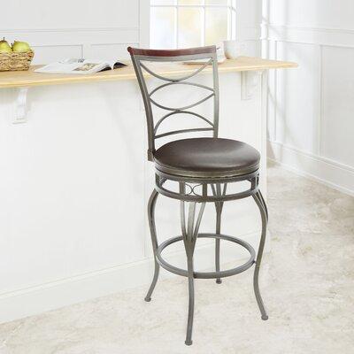 Vaughnsville 29 Swivel Bar Stool Upholstery: Espresso