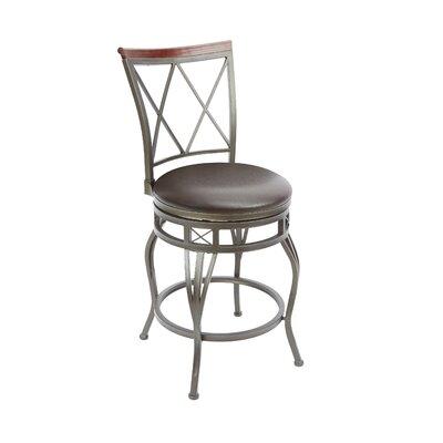 Twinbrook 24 Swivel Bar Stool Upholstery: Espresso