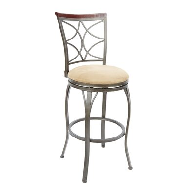 Walden 29 Swivel Bar Stool Upholstery: Tan