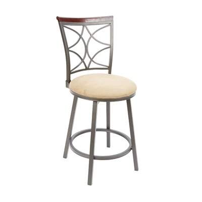 Waltham 24 Swivel Bar Stool Upholstery: Tan
