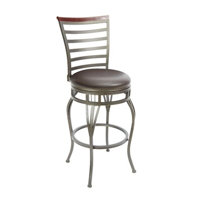 Bovina 29 Swivel Bar Stool Upholstery: Espresso
