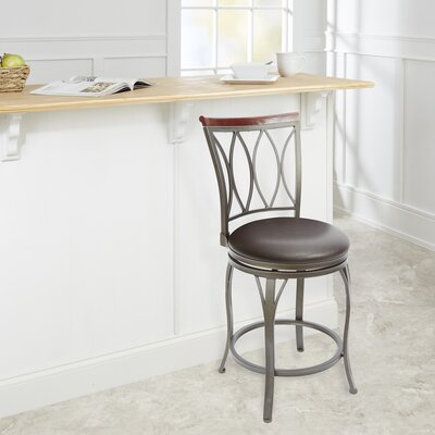 Villita 24 Swivel Bar Stool Upholstery: Espresso