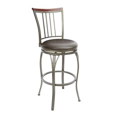 Bloomsburg 29 Swivel Bar Stool Upholstery: Espresso