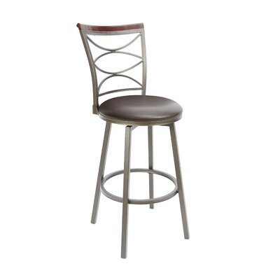Verona 29 Swivel Bar Stool Upholstery: Espresso