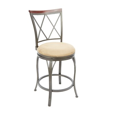 Urbana 24 Swivel Bar Stool Upholstery: Tan