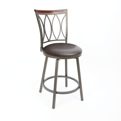 Wademoor 24 Swivel Bar Stool Upholstery: Espresso