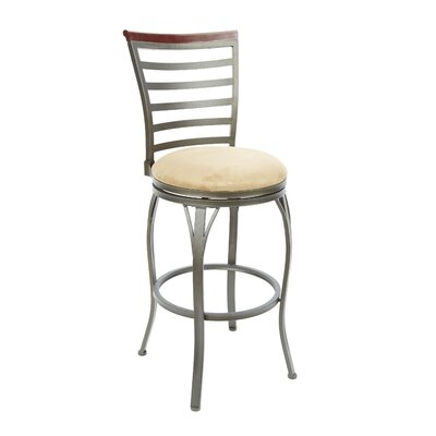 Bramble Hill 29 Swivel Bar Stool Upholstery: Tan