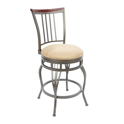 Birmingham 24 Swivel Bar Stool Upholstery: Tan