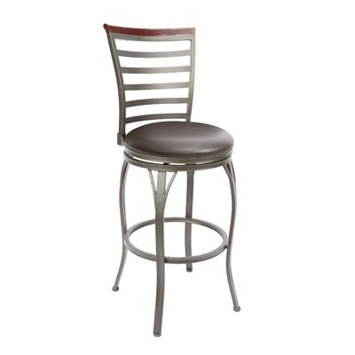 Bramble Hill 29 Swivel Bar Stool Upholstery: Espresso